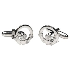 Claddagh White Gold Cufflinks