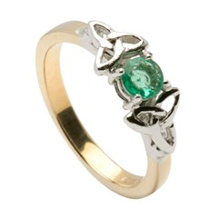 Emerald Trinity Knot Engagement Ring