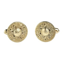Celtic Warrior Yellow Gold Cufflinks