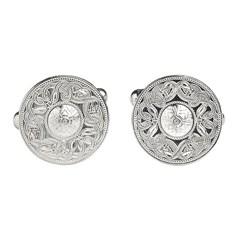 Celtic Warrior White Gold Cufflinks