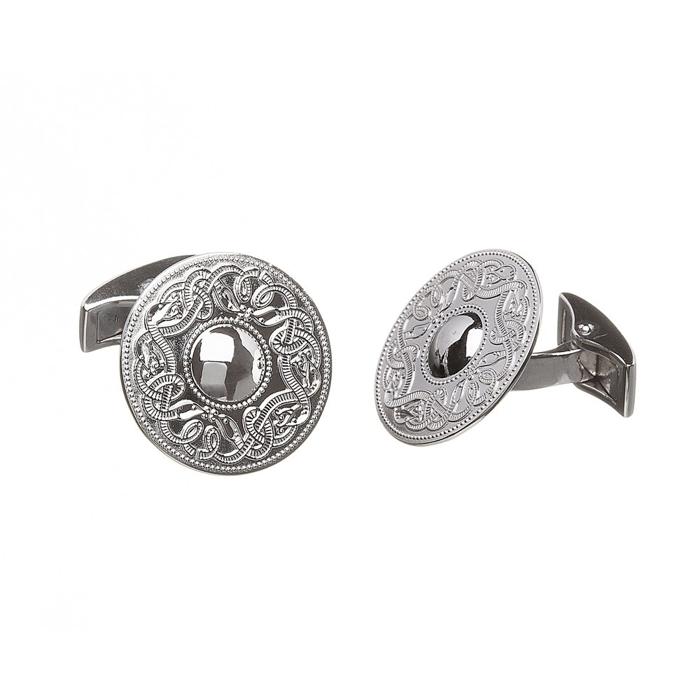 Celtic Warrior Large Silver Cufflinks