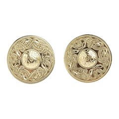 Celtic Warrior Large Yellow Gold Cufflinks
