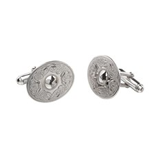 Celtic Warrior Oval Silver Cufflinks
