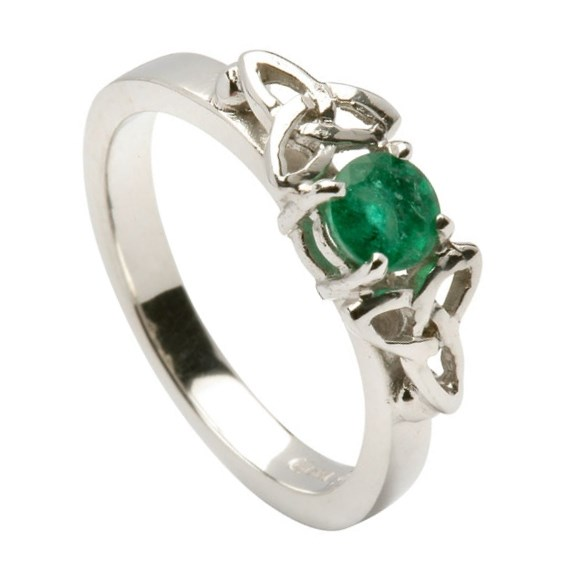 emerald knot engagement ring rings from ireland