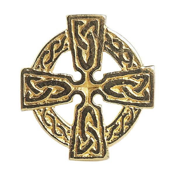 Celtic Cross Yellow Gold Tie Tac