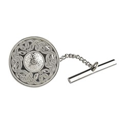 Celtic Warrior Large White Gold Tie Tac