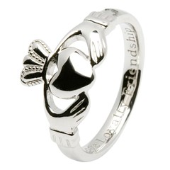 Ladies Love, Loyalty, Friendship Silver Claddagh Ring