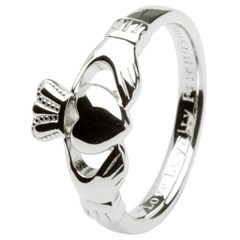 Gents Love, Loyalty, Friendship Silver Claddagh Ring