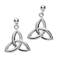 Small White Gold Trinity Knot Earrings