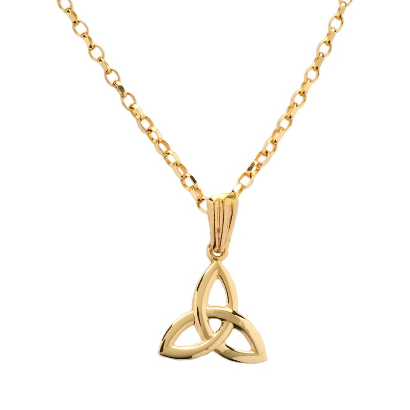 Small Yellow Gold Trinity Knot Pendant