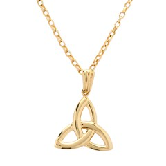 Large Yellow Gold Trinity Knot Pendant