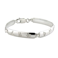 History Of Ireland Ladies Silver 4 Link Bracelet