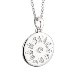 History Of Ireland Silver Disc Pendant