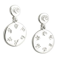 History Of Ireland Silver Disc Earrings