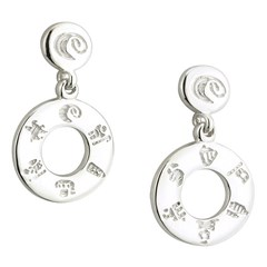 History Of Ireland Silver Donut Earrings