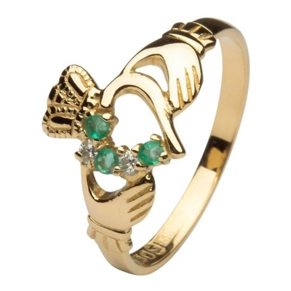 Claddagh Heart Set Yellow Gold Ring