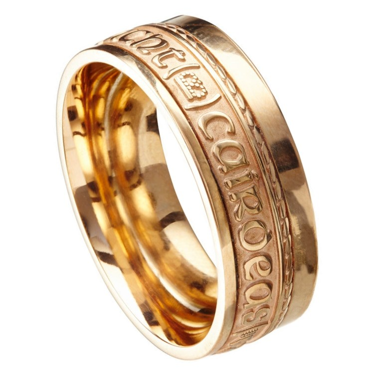 Love Loyalty Friendship Eternal Promise Yellow Gold Band
