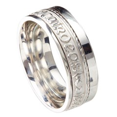 Love Loyalty Friendship Eternal Promise White Gold Band