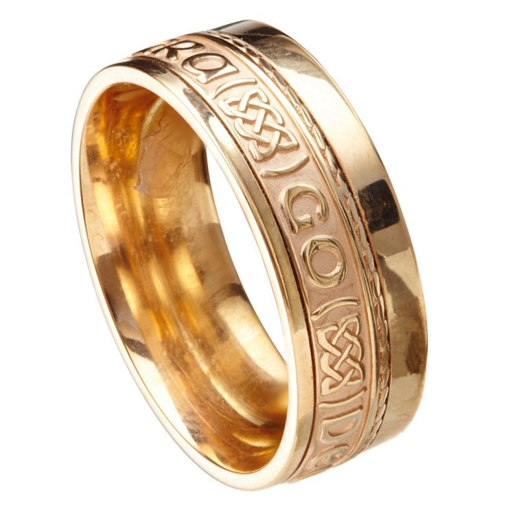 Love Forever Eternal Promise Yellow Gold Band