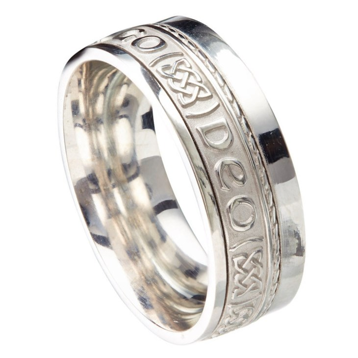 Love Forever Eternal Promise White Gold Band