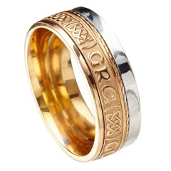 Love Forever Eternal Promise Yellow Gold with White Rail Band