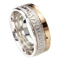 My Soul Mate Eternal Promise Silver with Yellow Gold Rail Band
