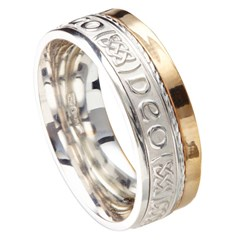 Love Forever Eternal Promise Silver with Yellow Gold Rail Band