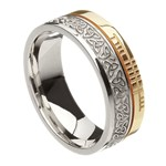 Trinity Knot Faith Silver with Yellow Gold Rail Band