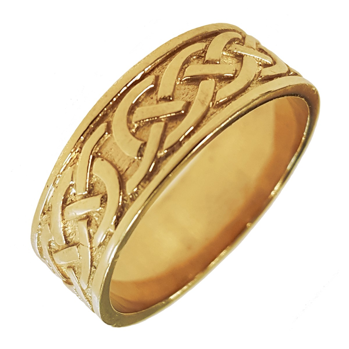 Celtic Knot Yellow Gold Wedding Band