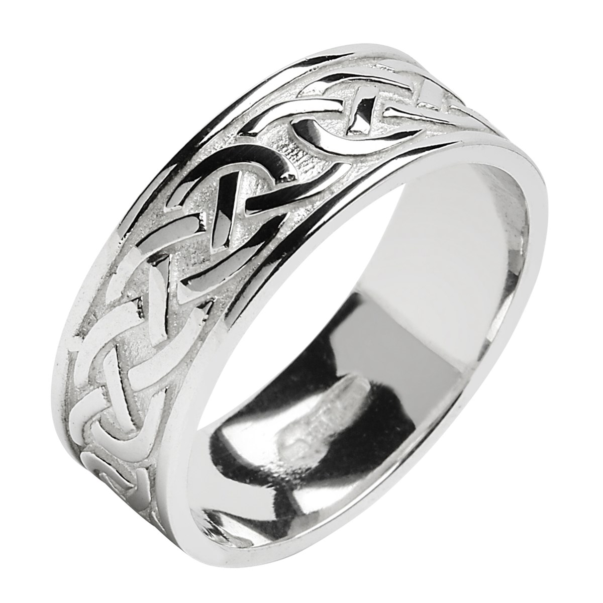 Celtic Knot White Gold Wedding Band