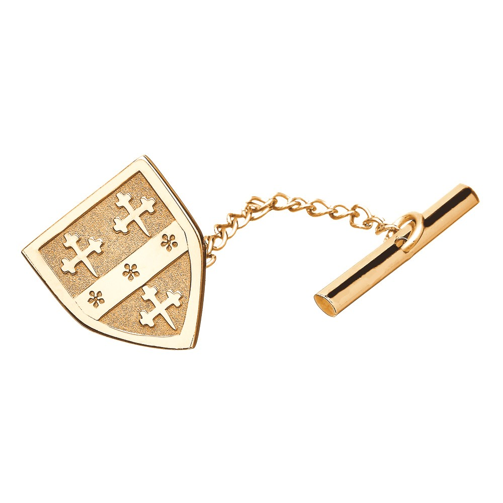 Coat of Arms Shield Yellow Gold Tie Tac