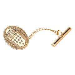 Coat of Arms Oval Yellow Gold Tie Tac