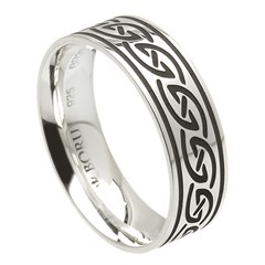 Celtic Waves Wide Silver Ring