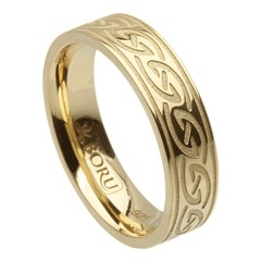 Celtic Waves Yellow Gold Ring