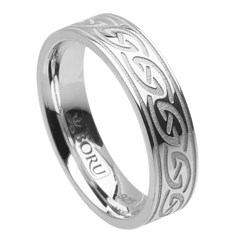 Celtic Waves White Gold Ring