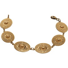 Celtic Warrior Oval Yellow Gold Bracelet