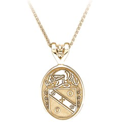 Coat of Arms Large Oval Yellow Gold Pendant