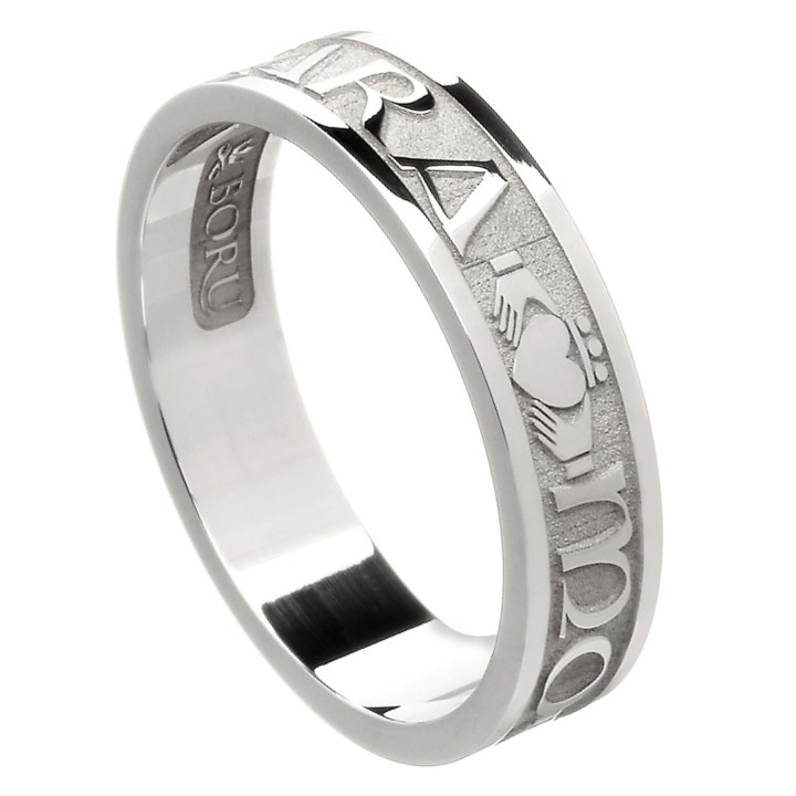 My Soul Mate Silver Wedding Band - Ladies