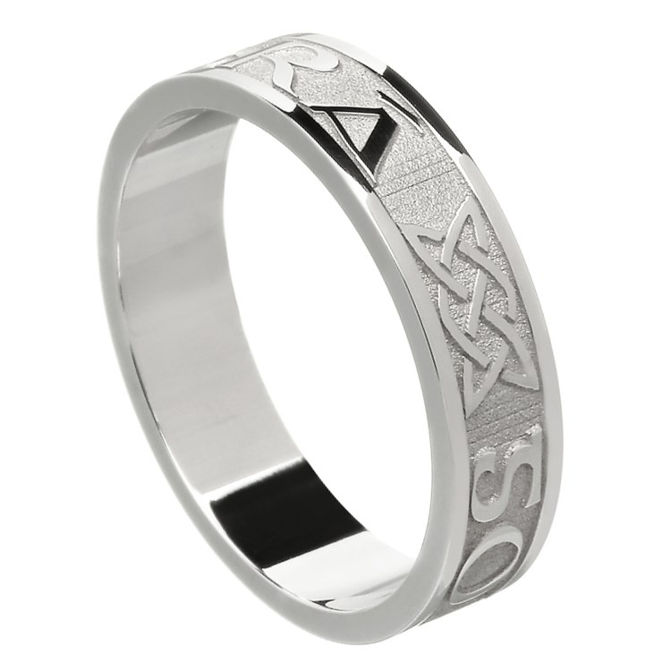 Love Forever Silver Wedding Ring - Ladies