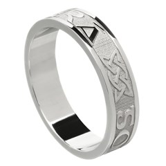 Love Forever Silver Wedding Ring