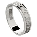 Love Of My Heart Silver Wedding Ring - Ladies