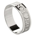 Love Of My Heart Silver Wedding Ring - Gents