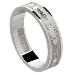 Claddagh Silver Wedding Band