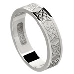 Lovers Knot Silver Wedding Band - Ladies