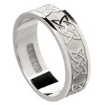 Lovers Knot Silver Wedding Band - Gents