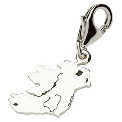 Silver Map of Ireland Charm