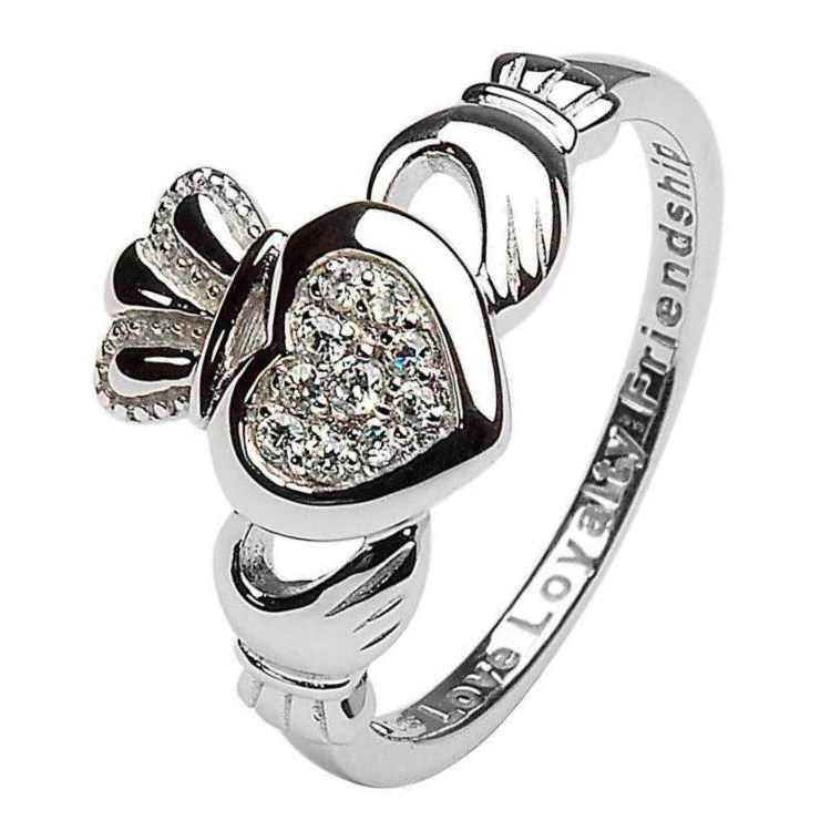 Claddagh Pave Set Ring