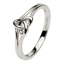 Trinity Knot Silver Ring