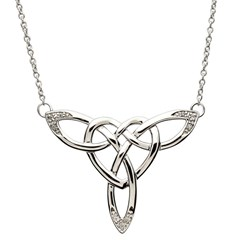 Celtic Knot Silver Necklace