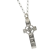 Monasterboice Muiredeach High Cross Small Silver Necklace